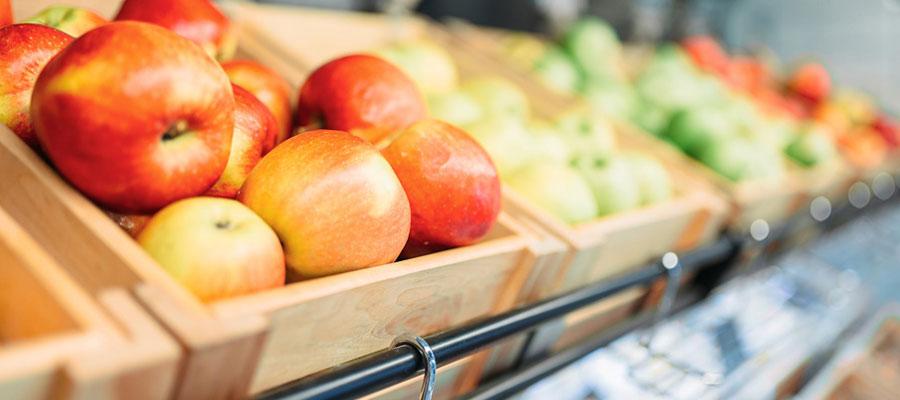 présentoirs pour fruits et légumes