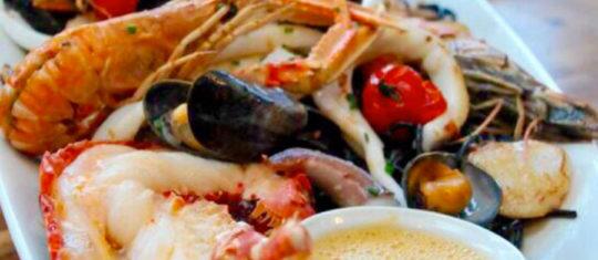 restaurant de gourmandises marines pêchées